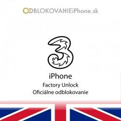 3UK Hutchison iPhone odblokovanie