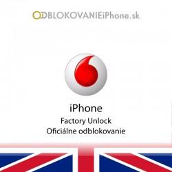 Vodafone UK iPhone odblokovanie