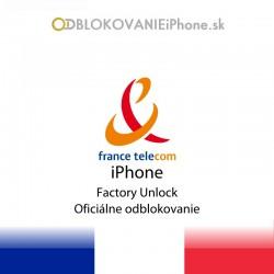 France Telecom Francúzsko iPhone odblokovanie