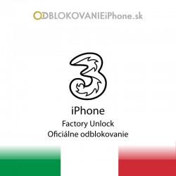 3 Hutchison Taliansko iPhone odblokovanie