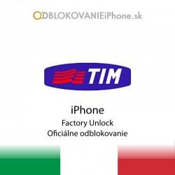 TIM Taliansko iPhone odblokovanie
