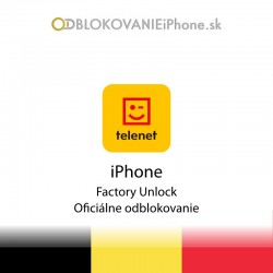 Telenet Belgicko iPhone odblokovanie