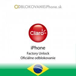 Claro Brazília iPhone odblokovanie
