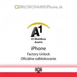 A1 Mobilkom AT Rakúsko iPhone odblokovanie