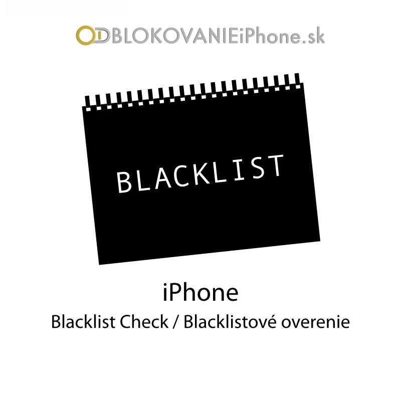 iCloud blacklistové overenie